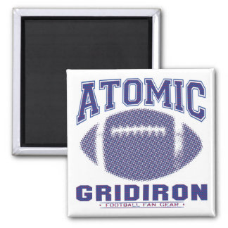 Atomic Gridiron Blue and Red Magnet