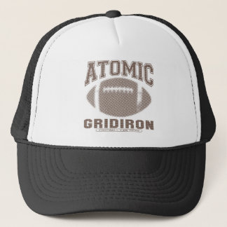 Atomic Gridiron Brown Trucker Hat