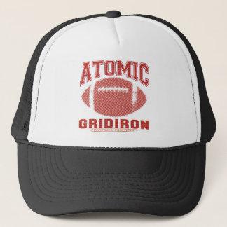 Atomic Gridiron Red Yellow Trucker Hat