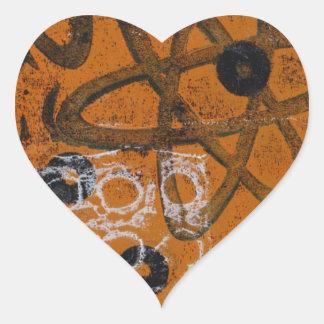 Atomic Grunge Heart Stickers