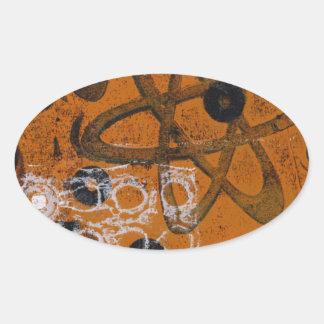 Atomic Grunge Oval Sticker