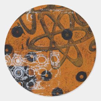 Atomic Grunge Round Sticker