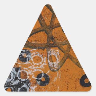 Atomic Grunge Triangle Sticker