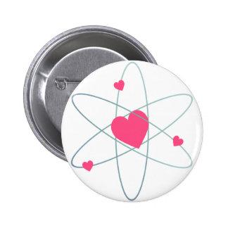 Atomic Heart Pinback Button