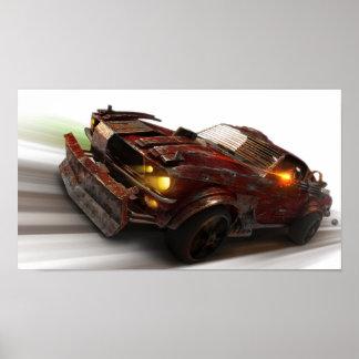 Atomic Highway Mustang Poster