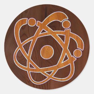 Atomic Inlay Round Stickers