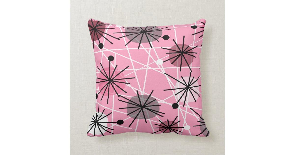 Atomic Inspired Pillow Mid Century Design Zazzle