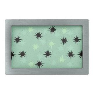 Atomic Jade and Mint Starbursts Belt Buckle