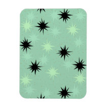 Atomic Jade and Mint Starbursts Flexible Magnet