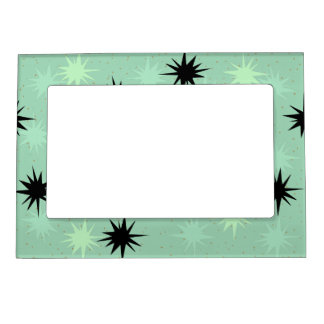 Atomic Jade and Mint Starbursts Magnetic Frame