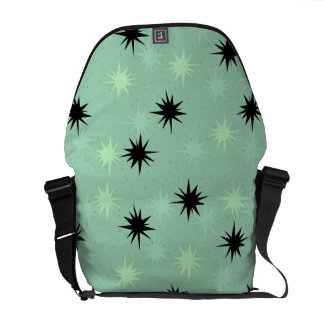Atomic Jade and Mint Starbursts Messenger Bag