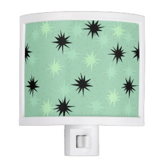 Atomic Jade and Mint Starbursts Night Light
