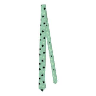 Atomic Jade and Mint Starbursts Skinny Tie