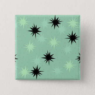 Atomic Jade and Mint Starbursts Square Button