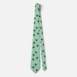 Atomic Jade and Mint Starbursts Tie
