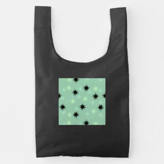 Atomic Jade & Mint Starbursts Reusable Bag