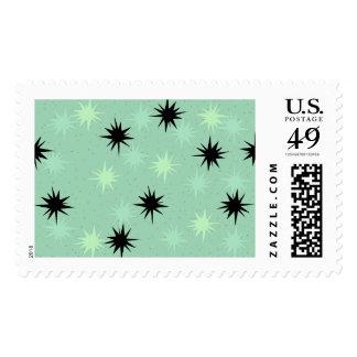 Atomic Jade Starburst Postage Stamp