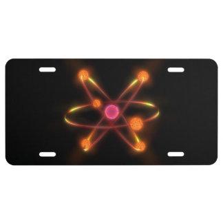 Atomic License Plate