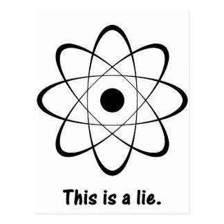 Atomic Lie Postcard