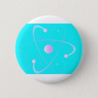 Atomic Mass Structure Background Button
