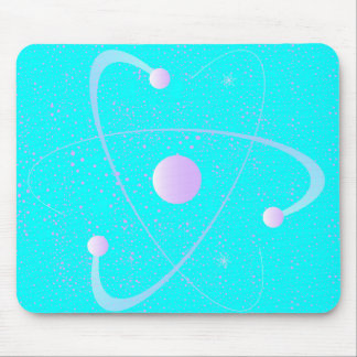 Atomic Mass Structure Background Mouse Pad