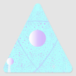 Atomic Mass Structure Background Triangle Sticker