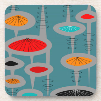 Atomic Mid-Century Inspired Abstract Coaster