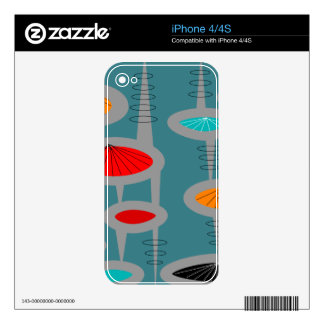 Atomic Mid-Century Inspired Abstract iPhone 4 Skins