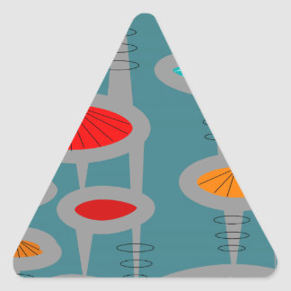 Atomic Mid-Century Inspired Abstract Stickers