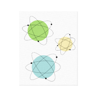 Atomic Mid Century Modern Wrapped Canvas Print