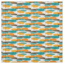 Atomic Mid-Century Ovals Pattern Fabric