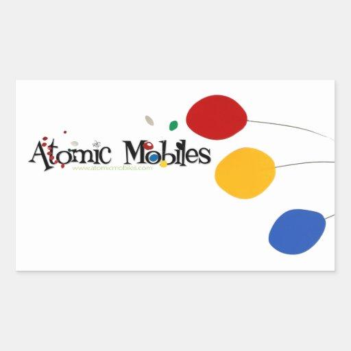 Atomic Mobiles Design #2 Rectangular Sticker