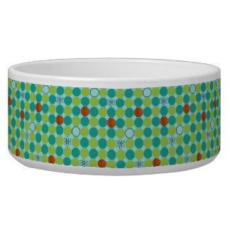 Atomic Octagons Ceramic Pet Bowl