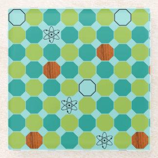 Atomic Octagons Glass Coaster
