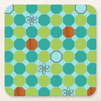 Atomic Octagons Hard Paper Coasters