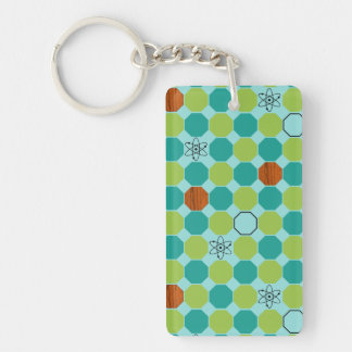 Atomic Octagons Keychain