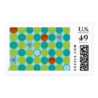 Atomic Octagons Postage Stamps