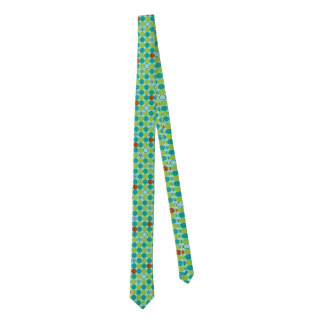 Atomic Octagons Skinny Tie