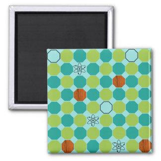 Atomic Octagons Square Magnet