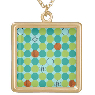 Atomic Octagons Square Necklace