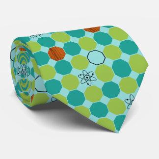 Atomic Octagons Tie