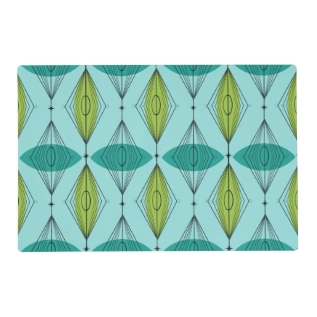 Atomic Ogee And Starbursts Laminated Placemat at Zazzle