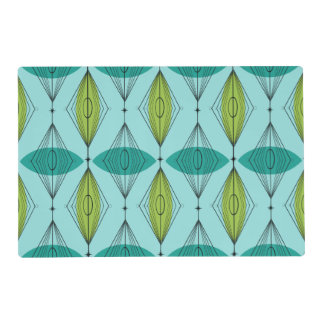 Atomic Ogee and Starbursts Laminated Placemat
