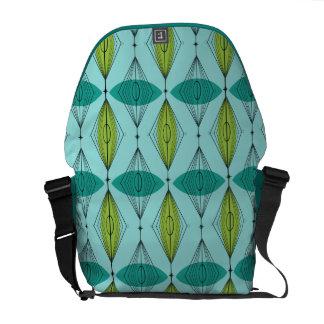Atomic Ogee and Starbursts Messenger Bag