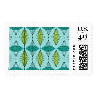 Atomic Ogee and Starbursts Postage Stamps
