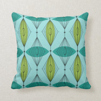 Atomic Ogee and Starbursts Throw Pillow