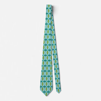 Atomic Ogee and Starbursts Tie