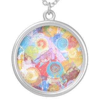 Atomic Orbital Round Pendant Necklace