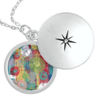 Atomic Orbital Sterling Silver Necklace