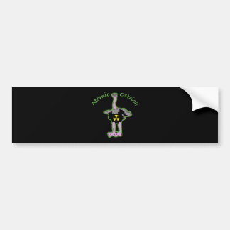 Atomic Ostrich character and name Bumper Sticker
